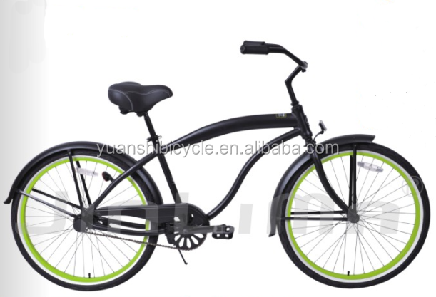matt black beach cruiser bikes for men alloy frame beach cruiser bicycle with big bum saddle high quality beach bicycle