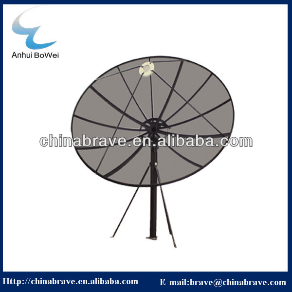 high quality Polar mount C band mesh dish antenna with positioner and actuator