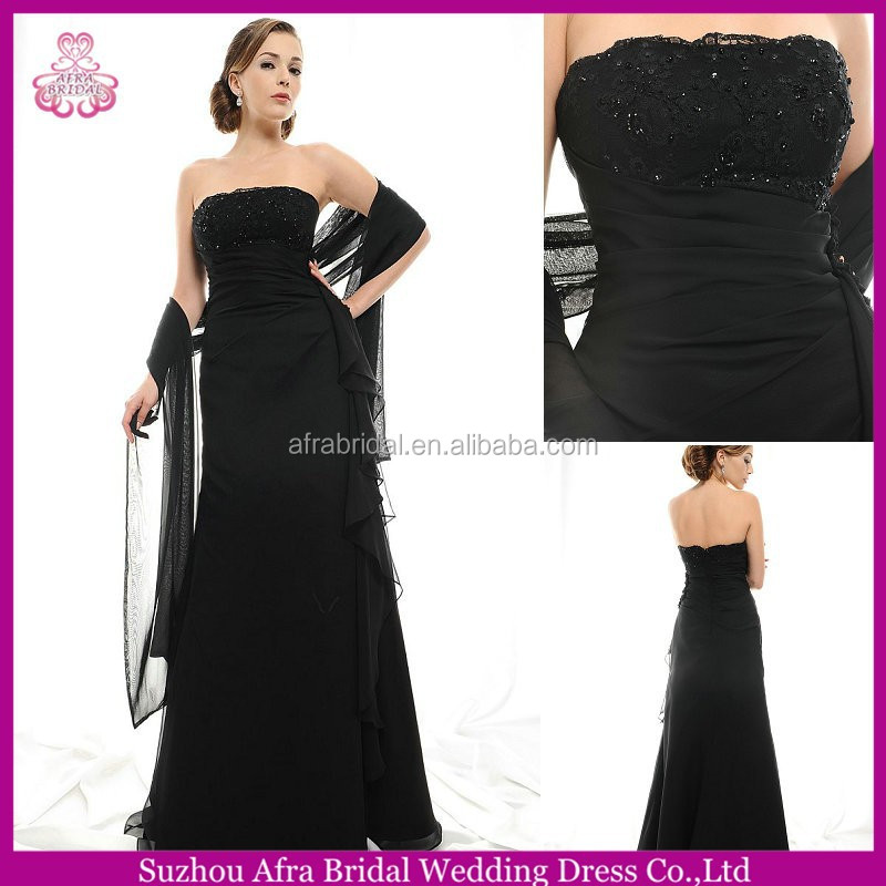 SD1858 black chiffon beach dresses for mother of the bride formal dress for mother of the bride