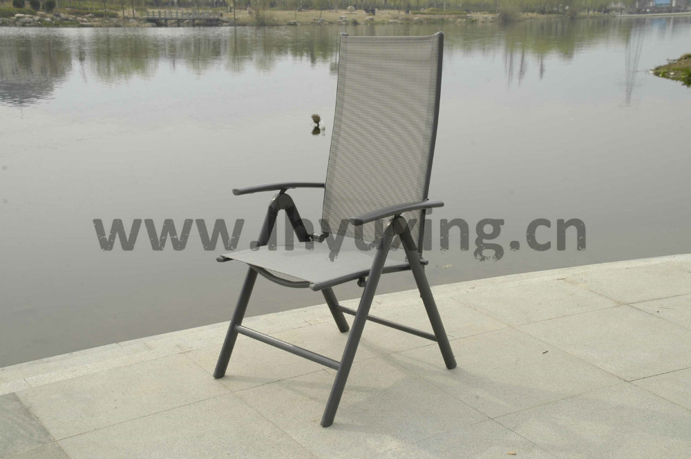 garden aluminium folding sling chair with 7 adjustable positions