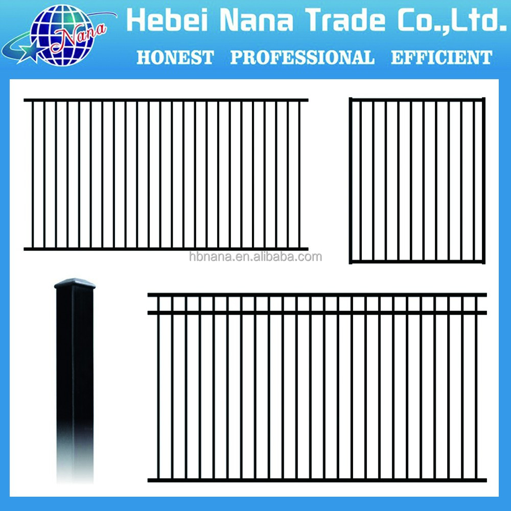 Cheap fence panels for sale/galvanized steel fence / steel tube fence panels