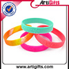 China factory handicraft of own silicon bracelets for celebration.