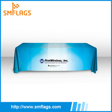 Wholesale advertising custom tablecloth printing trade show table cover