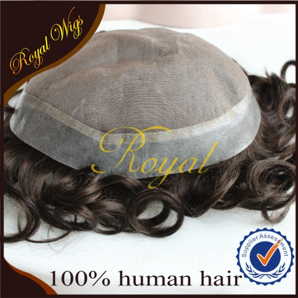 Cheap Wholesale Human Hair Wigs For Men Price Men's Hair Wig Toupee Hair Replacement System