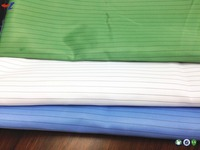 Woven 100% polyester static resistant fabric for cleanroom clothing