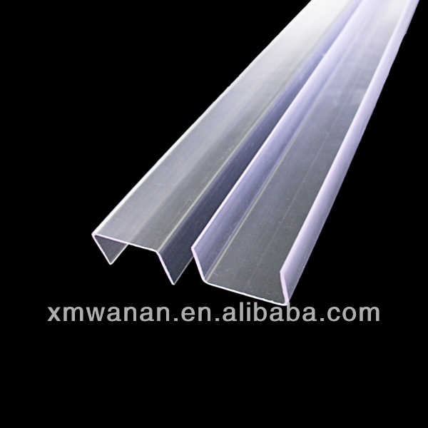 28 mm clear pvc U channel plastic extrusion