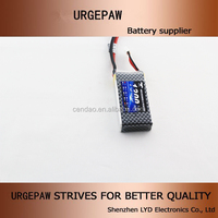OEM factory wholesale lipo battery pack 2s1p 7.4v rc helicopter battery 1300mah 50c mini helicopter battery 2 cells with XT60