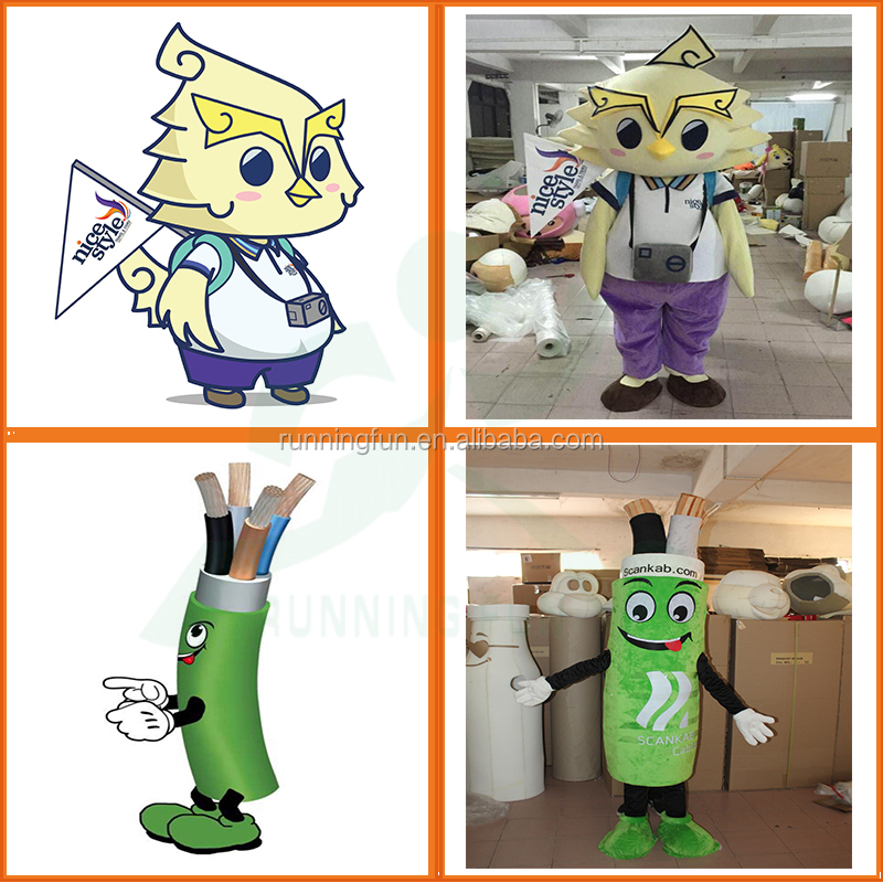Advertising adults mascot costume custom made, used Cartoon character Fur Mascots Costumes for party