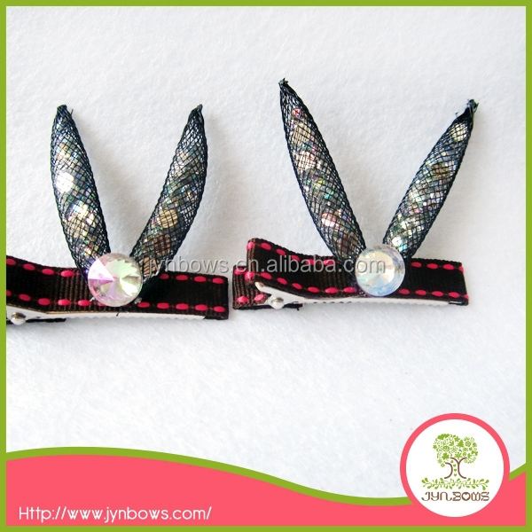 rabbit covers ribbon hairclip Korean hair accessories for lady