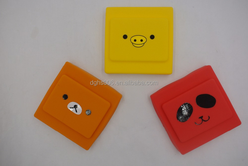 New rubber switch cover,terminal cover with colorful light switch case