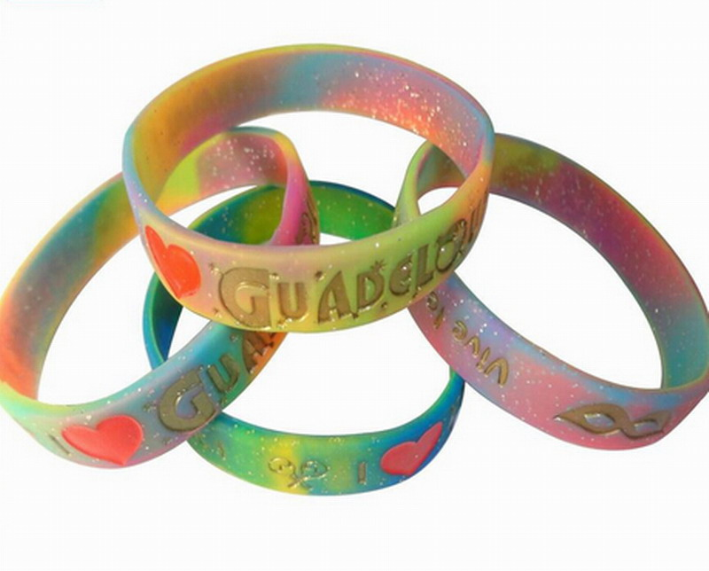 Trend of the new product silicone rainbow bracelet