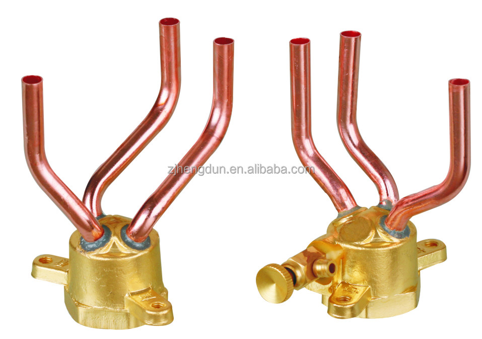 brass pipe air conditioning refrigeration parts long three tubes