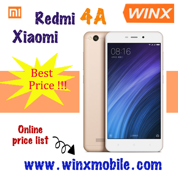 Cheap cell phone Original Xiaomi Redmi 4A red rice 4A 2GB RAM 16GB ROM Snapdragon 425 smart phones