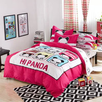 Duvet Quilt Cover Set Pillow Case pink panda design Bedding Set All Uk Sizes