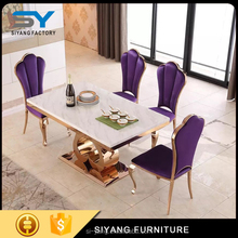 2017 heart shape rose gold stainless steel dining table with good quality CT006