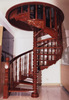 wood carved spiral staircase