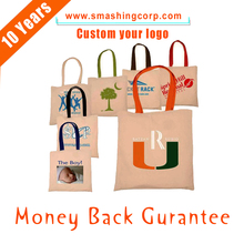 Blank Canvas Tote jute hand Bag Wholesale gift Shopping Bag for promotion