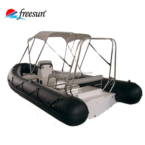 China fiberglass fishing boat inflatable rib center console boat for sale