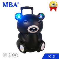 Manufacturing multimedia portable mini bluetooth speaker with led light,dj light,mp3 player
