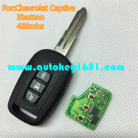 MS 3 button remote key 433mhz with ID46 chip for car chevrolet captiva key