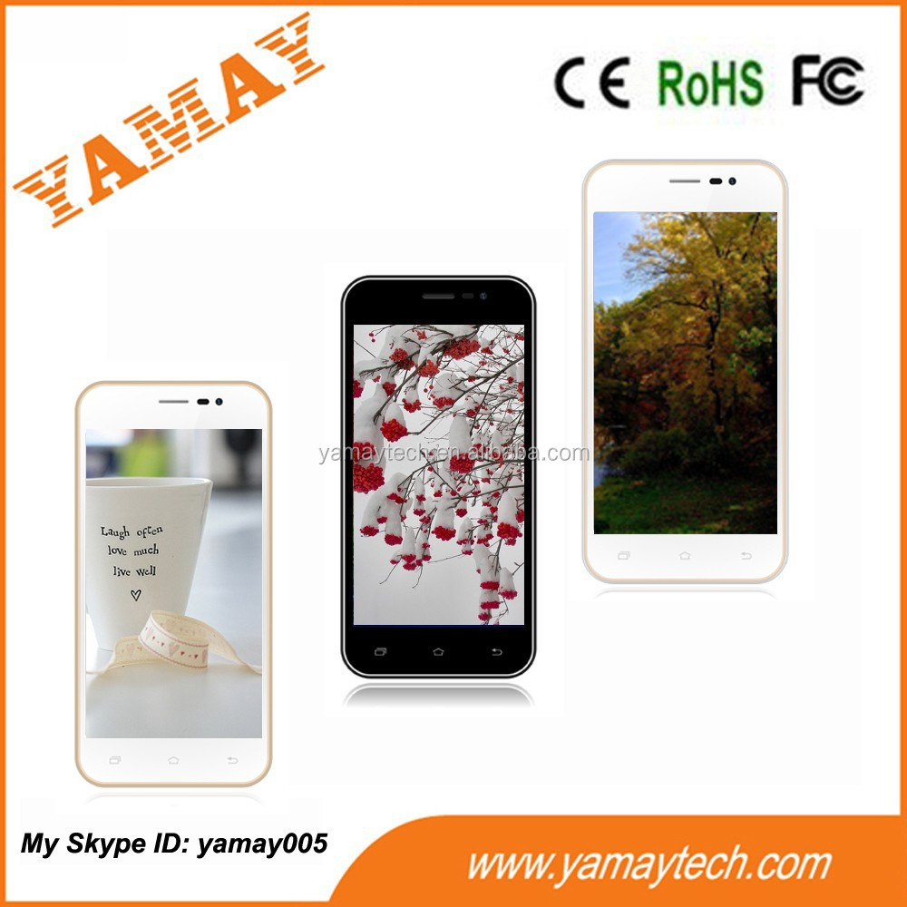 4.5 inch touch display android 4.4 OS RAM 512MB ROM 4GB non camera smartphone 3G phone call and internet