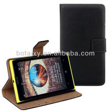 Luxury Genuine Leather Wallet Case For Nokia Lumia 1020