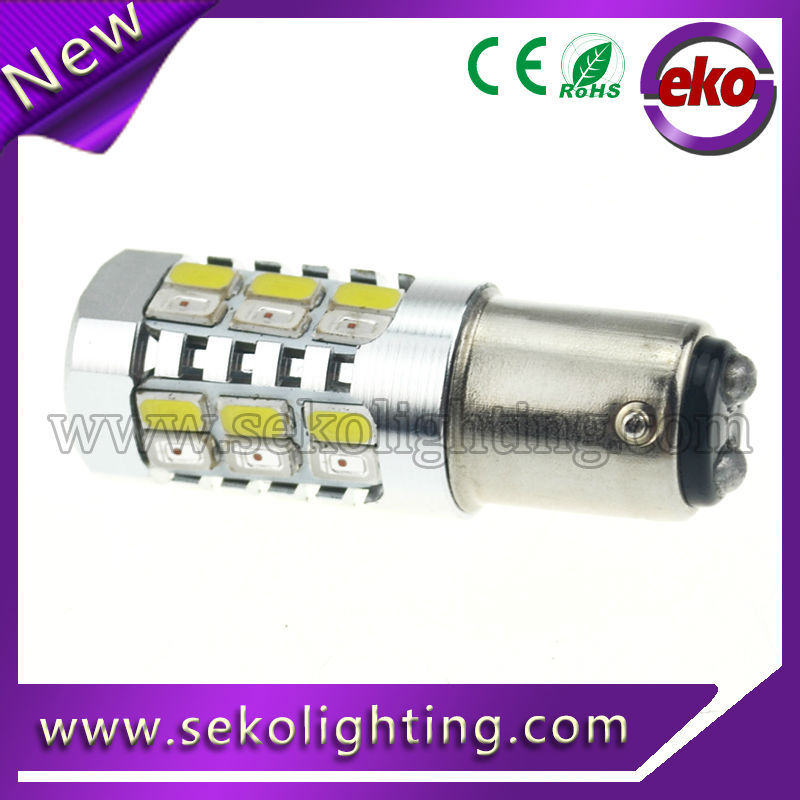 28smd 5630 white amber dual color 1157 7443 3157 switchback led light