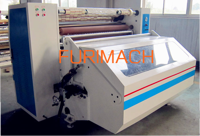 Jumbo roll adhesive tape slitter rewinder/machine to produce scotch