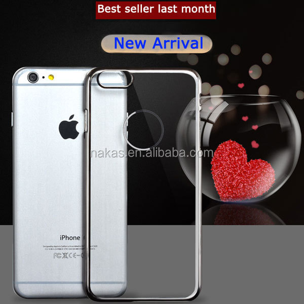 Special electroplate hard PC mobile phone case for iphone 6/6plus