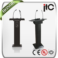 ITC T-6236 Series All in One Design Carring Speaker and Microphone Lecture Podium for Sale