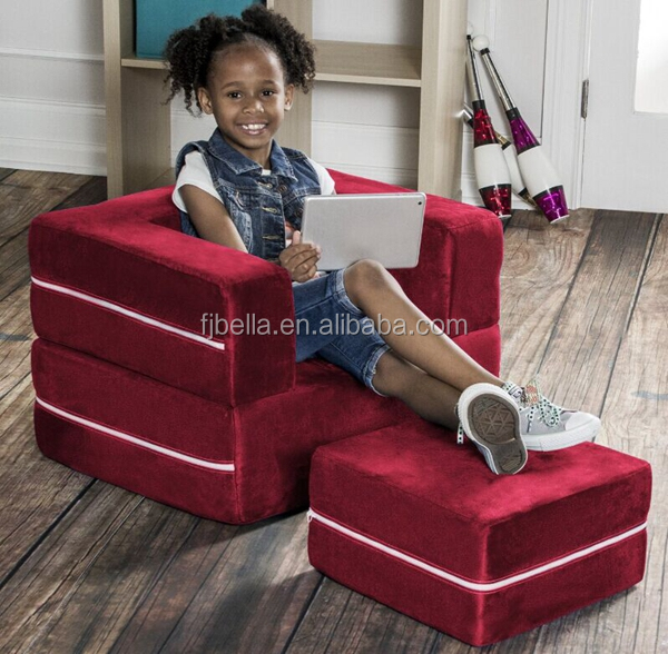 3 in 1 with Ottoman & Mattress & Table Convertible Flip Chair