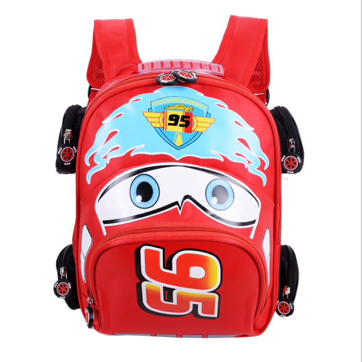 3D cartoon fashion kids school bag new models car bag for children