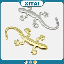 Xitai car accessories cartoon gecko metal logo 3d car sticker art.-no.04