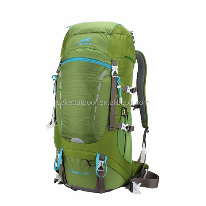 Outdoor Light Rain Cover 40L Hiking Backpack Camping Rcksack Stylish Waterproof Backpack