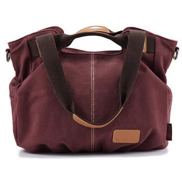 Good quality canvas vintage tote bag handbag for unisex