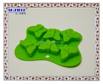 Butterfly shape silicone ice cube tray