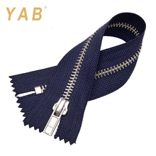 YAB 2017 Latest Fashion Eco-Friendly Decorative Garment Brass Metal Zippers