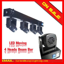 2014 Hot sale~ DMX512 9CH/28CH RGBW 4*10w single white color/RGBW 4-in-1 led moving head 10w quad in 1