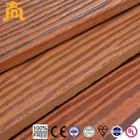 Waterproof wood grain fiber cement board exterior wall siding panel