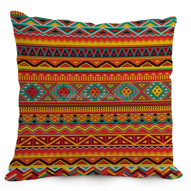 2016 New African Ethnic Cushion Nordic style home decorative linen pillow tribal decorative stripe pillow for sofa use