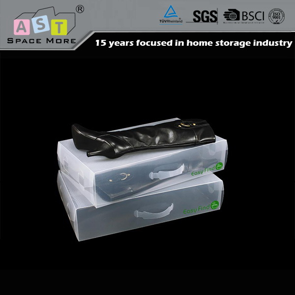 First-class quality good price fashion pp plastic shoe box with handle