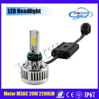 2015 New Motorcycle Headlight Headlamp 12V 20W 6000K LED Bi xenon H4 H6 High/Low Conversion Kit Bulb