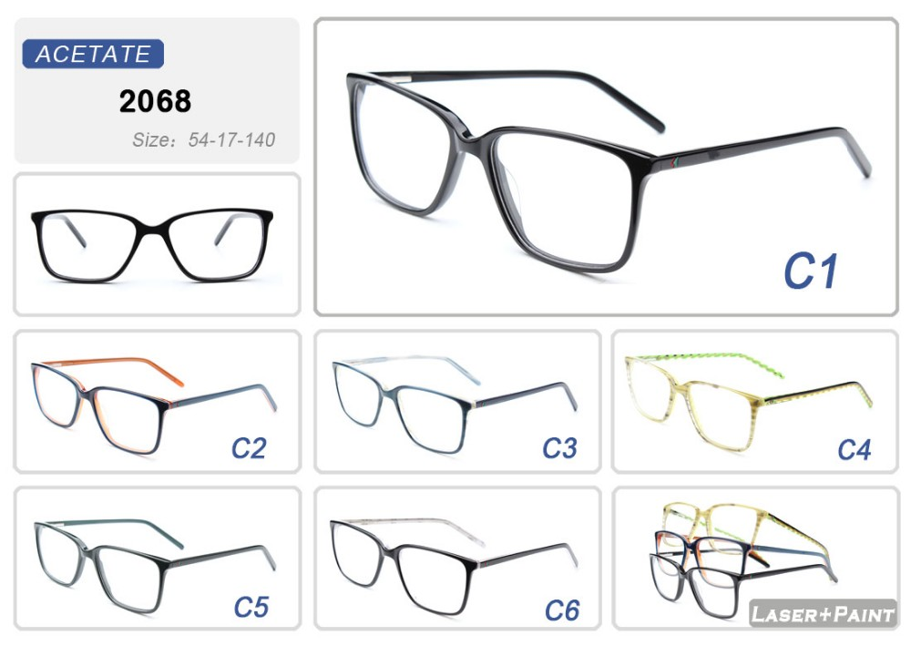 High Quality Handmade Fashion Acetate Eyeglasses Spectacle Optical Frame