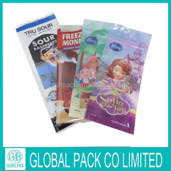 Chinese manufacture eco friendly plastic ice cube popsicle packaging bag