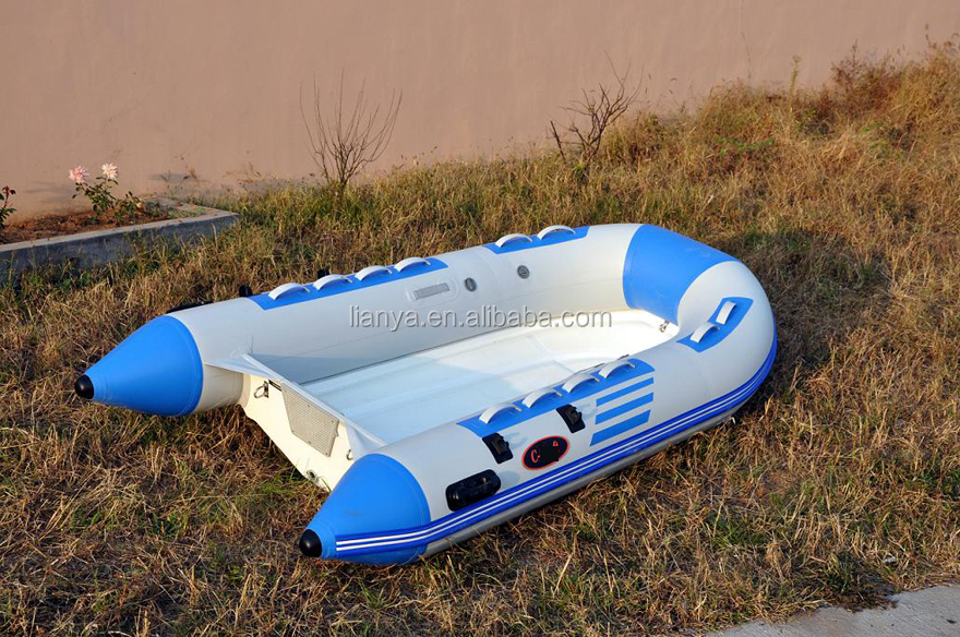 Liya CE 2.7m rigid double hull fiberglass inflatable fishing RIB boat for sale