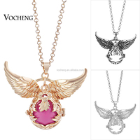 10pcs/lot Long Pendant Necklace Hollow Flower Jewelry Angel Wing Accessories Maternity Ball in Pendant (VA-100) Free Shipping