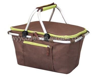 christmas New style wicker basket for flowers folding cooler basket bag