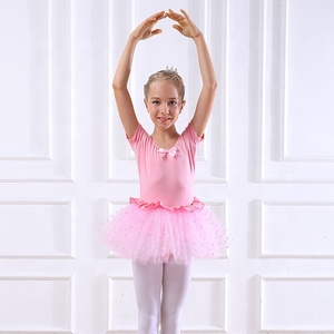 2019 hot sale wholesale high quality cheap girls kids training wear ballet dance dress