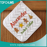 Alexcander logo single colour placement print white cotton pot holder