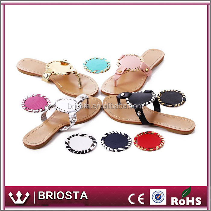 Wholesale Custom Personalized Women Monogrammed Disc Sandals